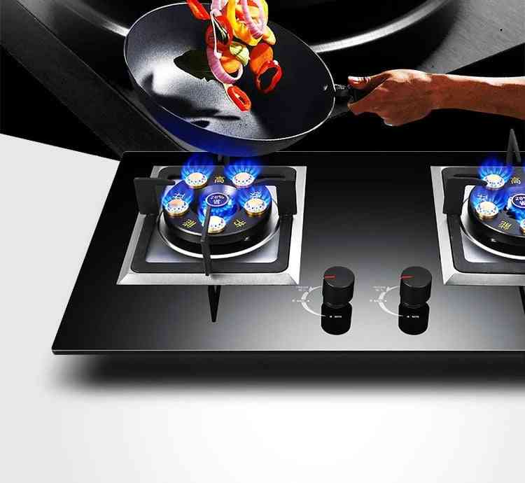 Double Gas Stove, Eye Energy Conservation Fire Embedded Dual Use