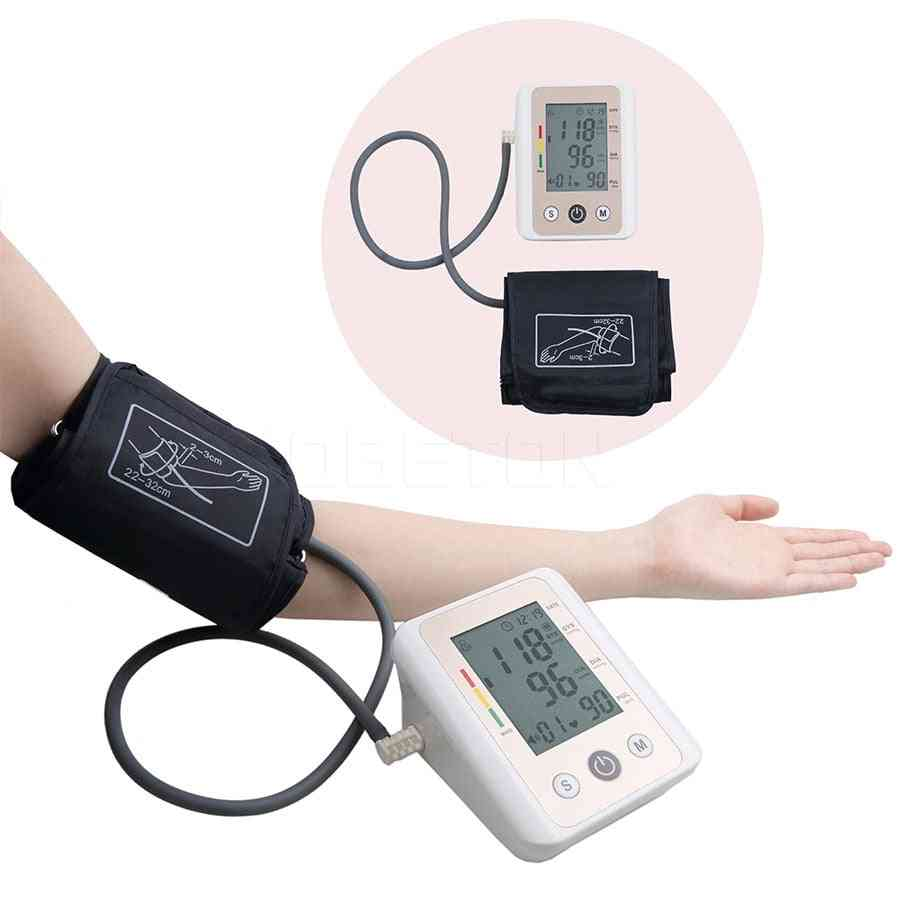 Lcd Adult Blood Pressure Monitor And Arm Cuffs
