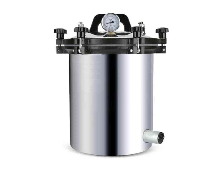 Portable Stainless Steel Sterilization Pot, Pressure Steam Sterilizer Autoclave Pots