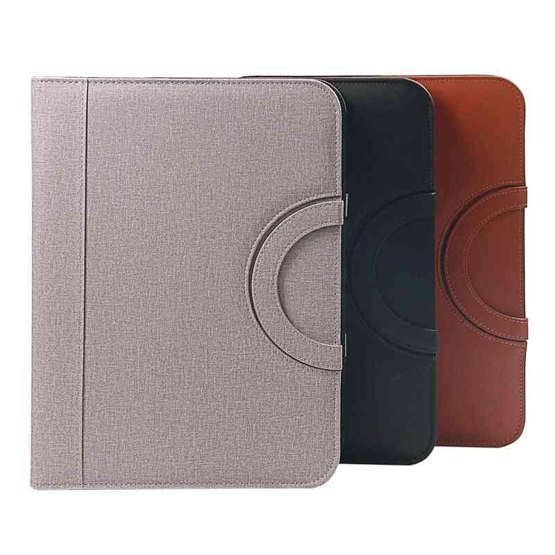 Multi-functional Pu Leather Padfolio-business Document Organizer