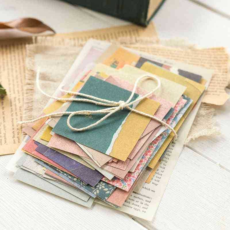 Small Fresh Retro Memo, Basic Journal Material Paper For Collage Scrapbook