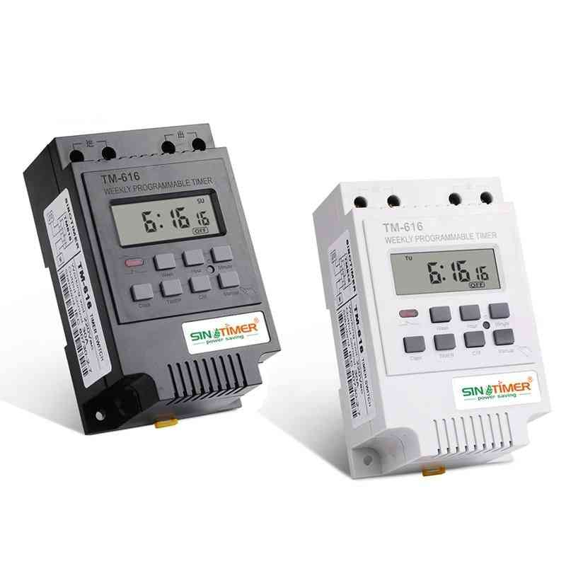 Weekly Programmable Digital Time Switch, Relay Control Timer