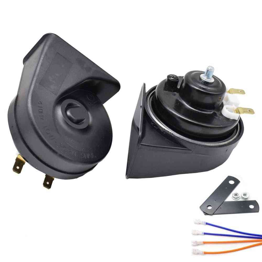 Universal Dual Pitch Snail Horn , Wire And Brackets
