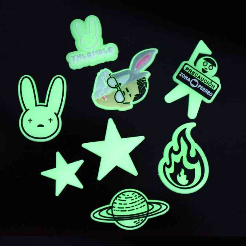 Light Bunny Soft Rubber Designer Shoes Charms Accessories