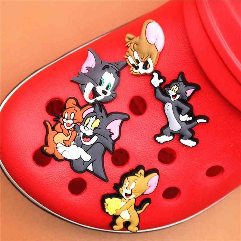 Cartoon Cat Shoe Charms Accessories Mouse Shoes Buckle Decorations