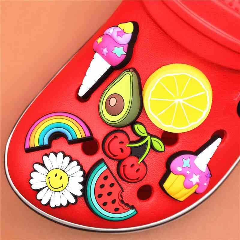 High Imitation Shoe Charms Cute Food Buckle Decorations Accessories