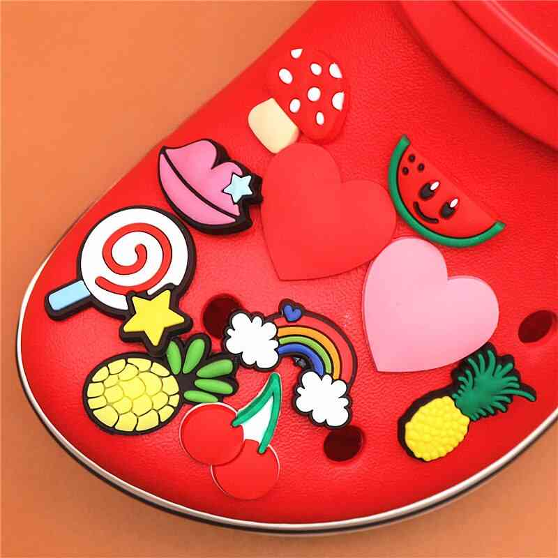 Charms Cartoon Heart-shaped Garden Shoe Accessories Decorations