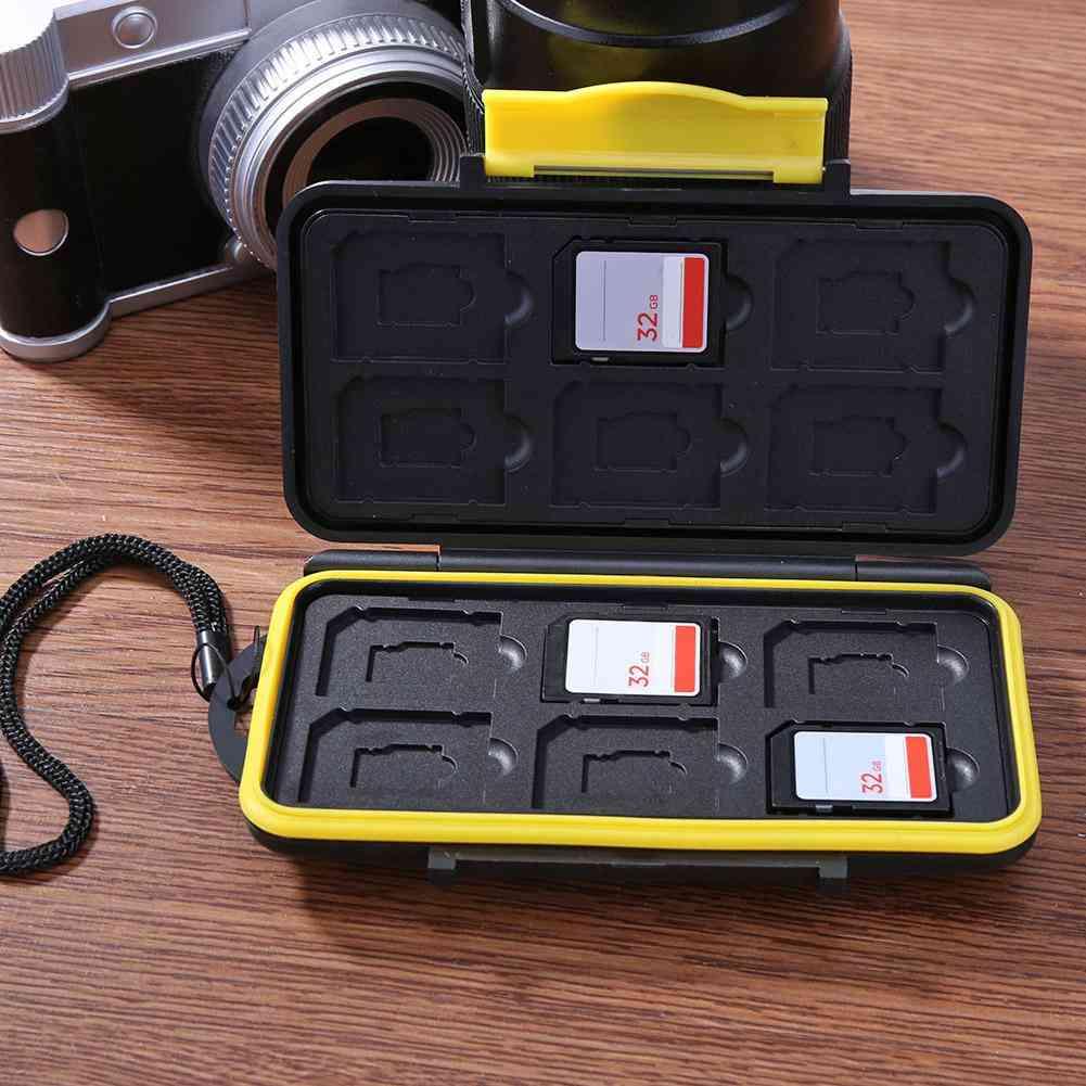 Memory Cards Case / Deposit Card Box, Multi-grid Waterproof Storage Saving