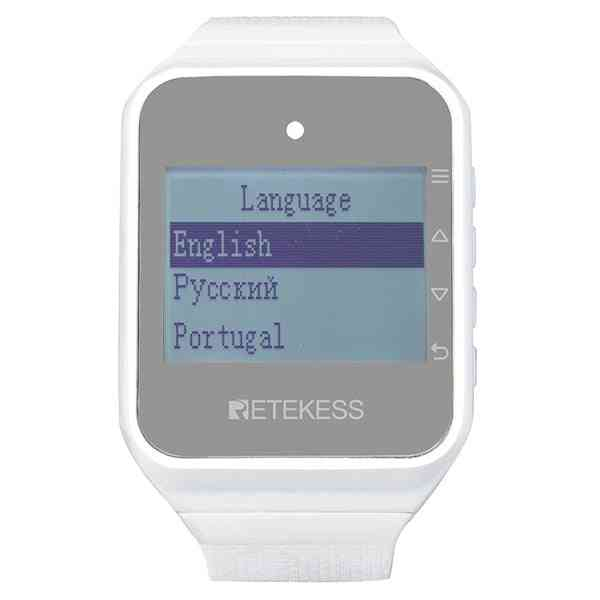Td108 Wireless Waiter Calling System Watch Receiver