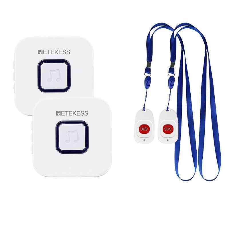 Retekess Caregiver Pager Wireless Sos Call Button Nurse/call Alert Patient Help System