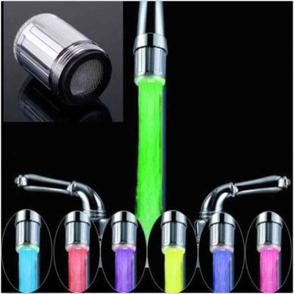 Novelty Design Rgb Colorful Led Light Water Glow Faucet
