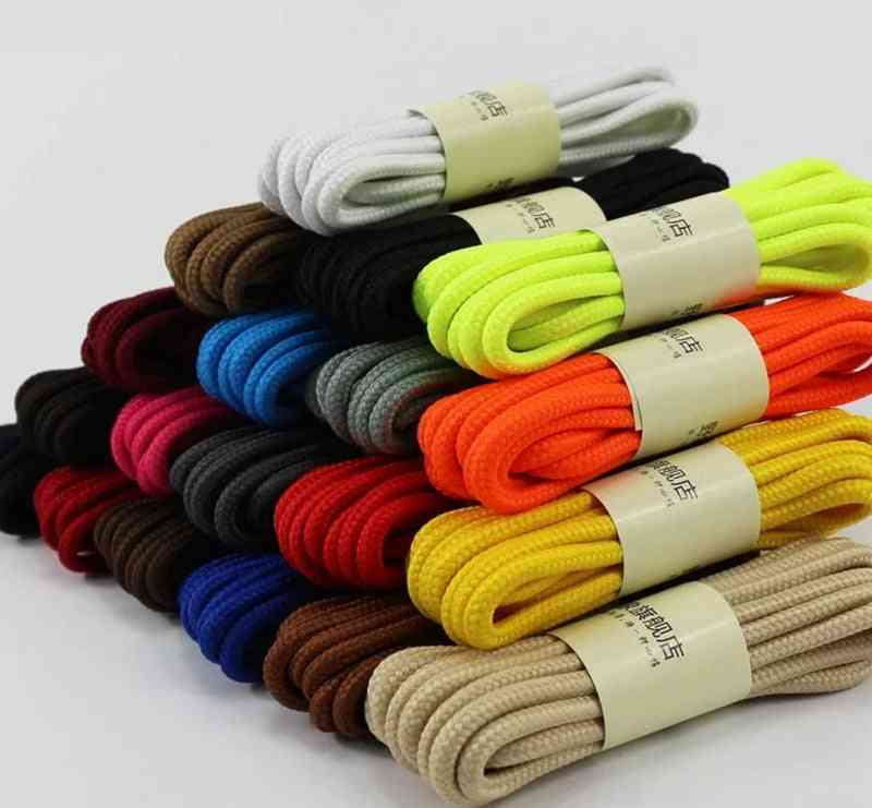 Round Solid Shoelaces, Top Quality Polyester Shoes, Classic Sneakers Boots String