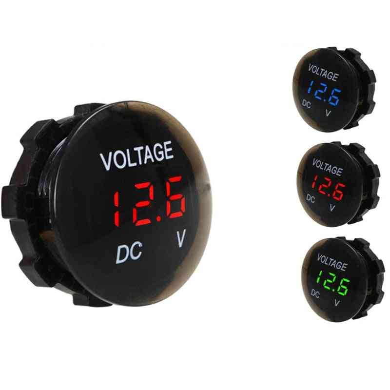 Digital Panel Voltmeter  Led Display For Car Auto Motorcycle Boat Atv Truck Refit Accessories