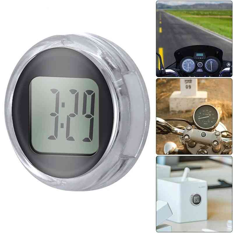 New Mini Precision, Motorcycle Digital Clock With Stopwatch, Waterproof