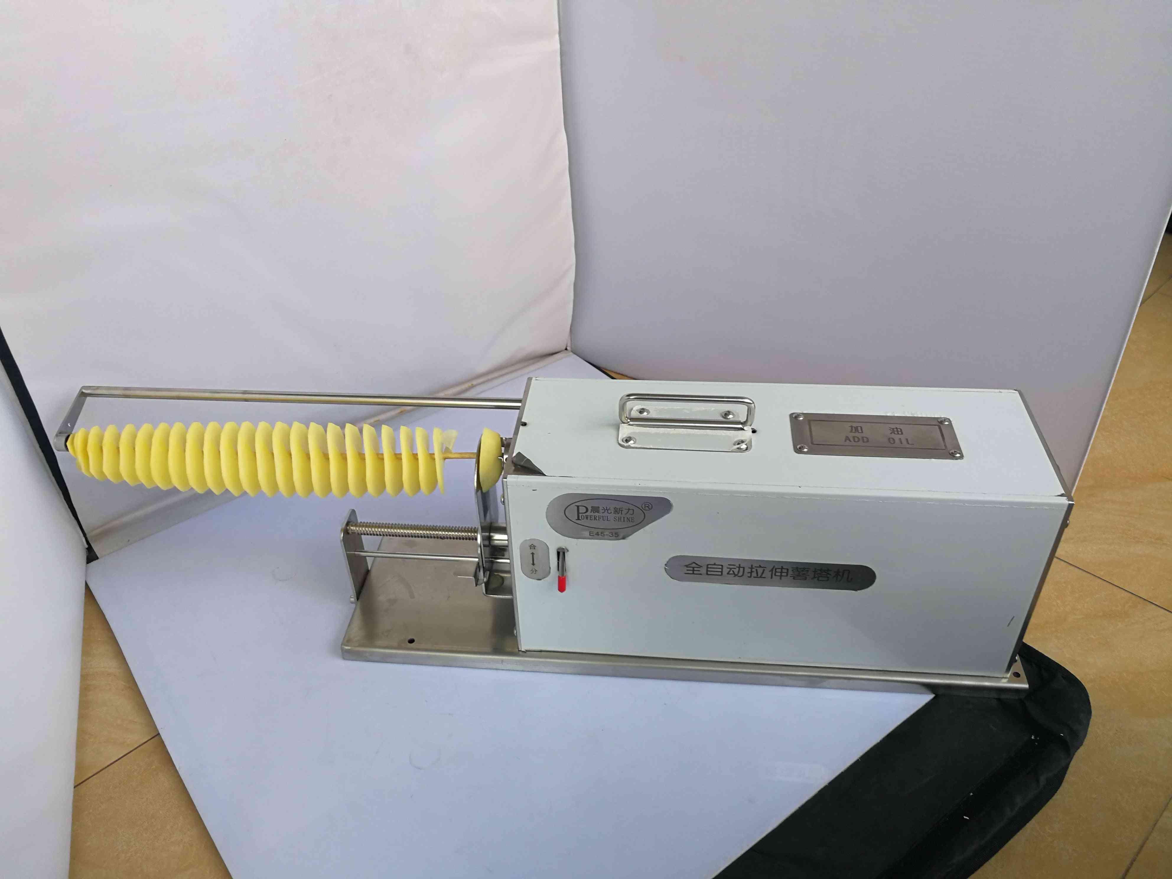 Automatic Stretch Tornado Potato Machine, Spiral Cutting, Cutter Potato Chips, Electric Type