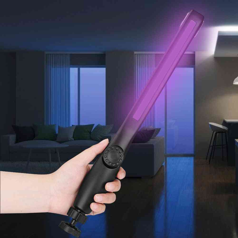 Disinfection Lamp Wand, Ultraviolet Sterilizer Portable Rechargeable Light Stick