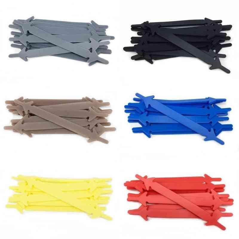 Silicone Shoelaces No Tie Elastic Shoe Laces Special Shoelace / Adults Lacing System Rubber Zapatillas