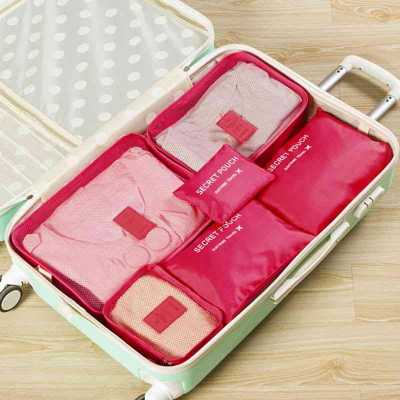 Travel Mesh, Luggage Organizer, Packing Cosmetic Bags