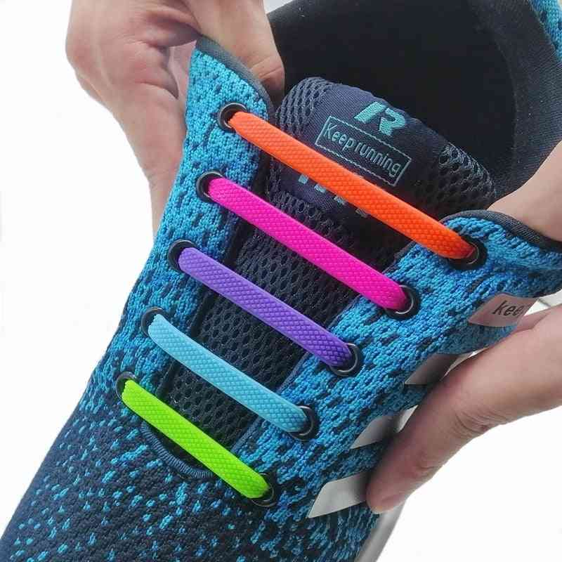 Unisex Silicone Elastic Shoelaces For Sneakers