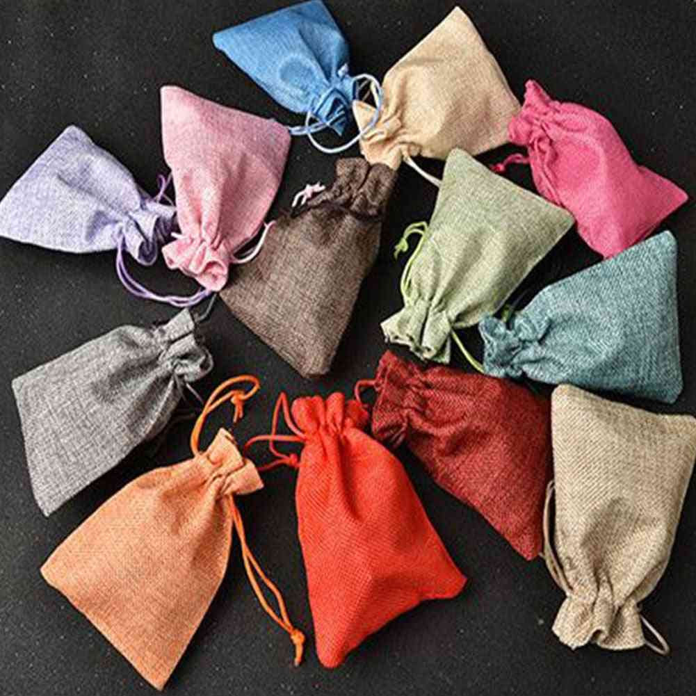 Linen Storage Package Shopping Bags - Small Travel Women Cloth Pouch