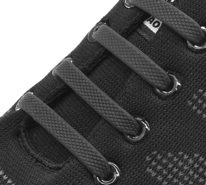Silicone Elastic Shoelaces Special No Tie Lacing Kids Adult Sneakers