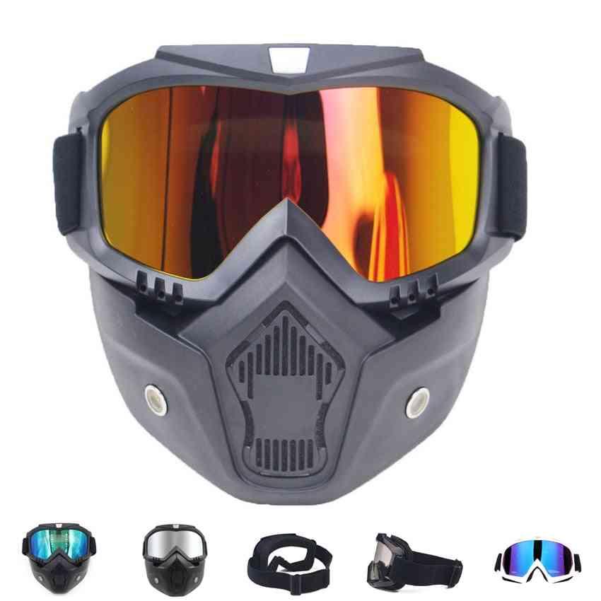 Men Women Ski Snowboard Mask & Snowmobile Skiing Goggles