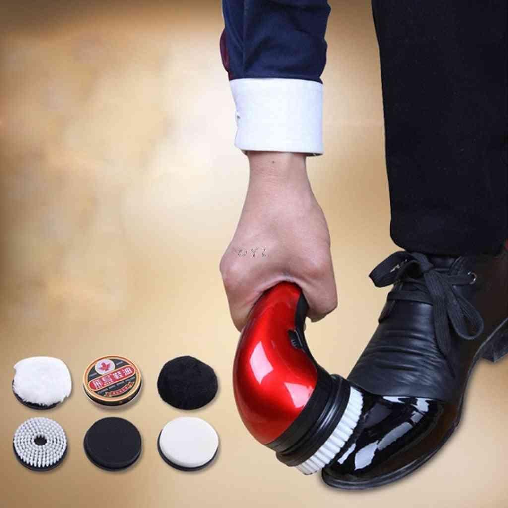 Portable Handheld Automatic Electric Shoe Brush Shine, Polisher