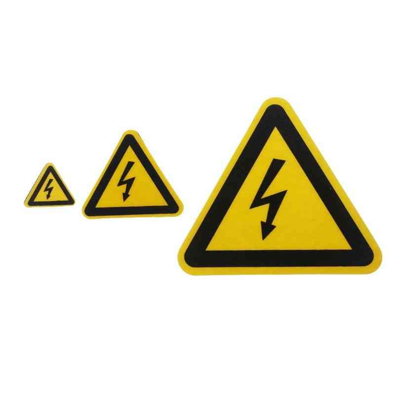 Adhesive Labels, Electrical Shock Hazard Danger Notice Safety Pvc Waterproof Stickers