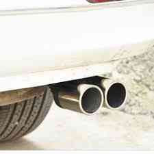 Car Decoration Chrome Tail Pipe Stainless Steel Curved Dual-outlet Exhaust