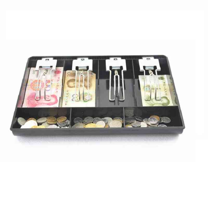 Hard Case Metal Clip Cash Register Box