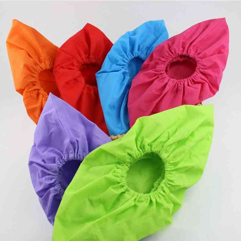 Thicken Reusable Elastic Shoe Cover, Indoor Antiskid Overshoes Covers