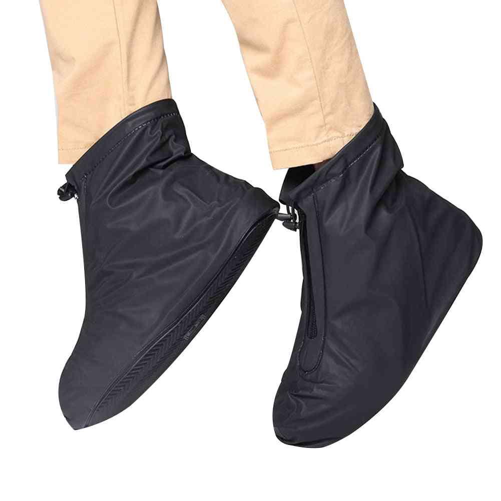 Men & Women Thickening Waterproof Rain Boots, Reusable Shoe Cover
