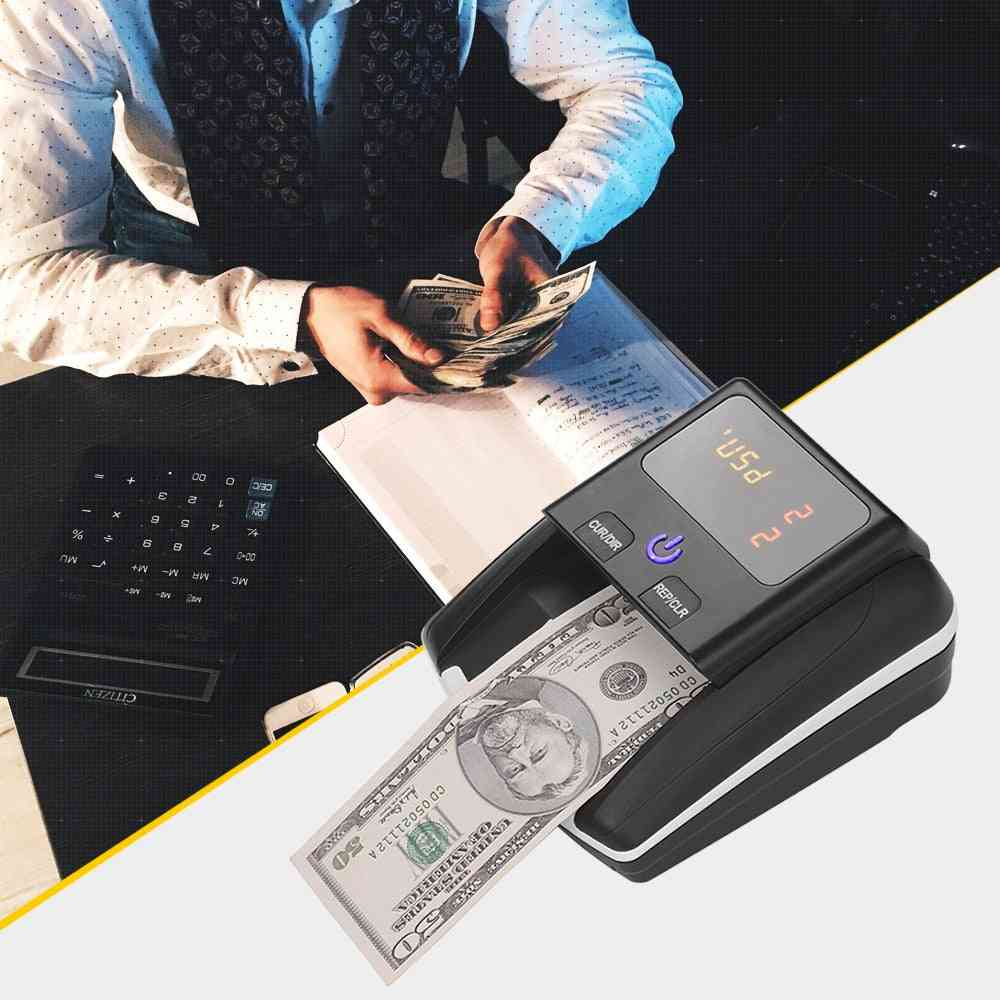 Banknote Detector With Battery And Power Adapter