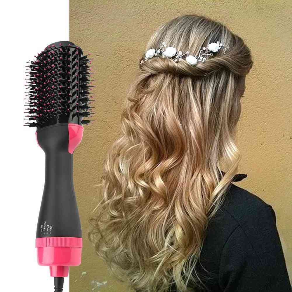 Hair Dryer Comb, Multifunctional Infrared Negative Ion Hot Air Straight Curling