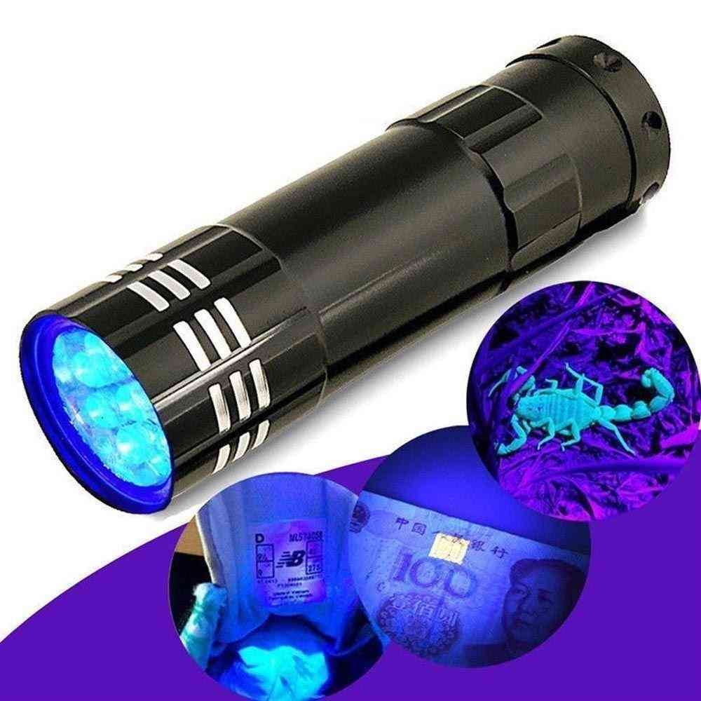 Cash Checker Uv Ultra Violet Flashlight 9 Led Flashlight