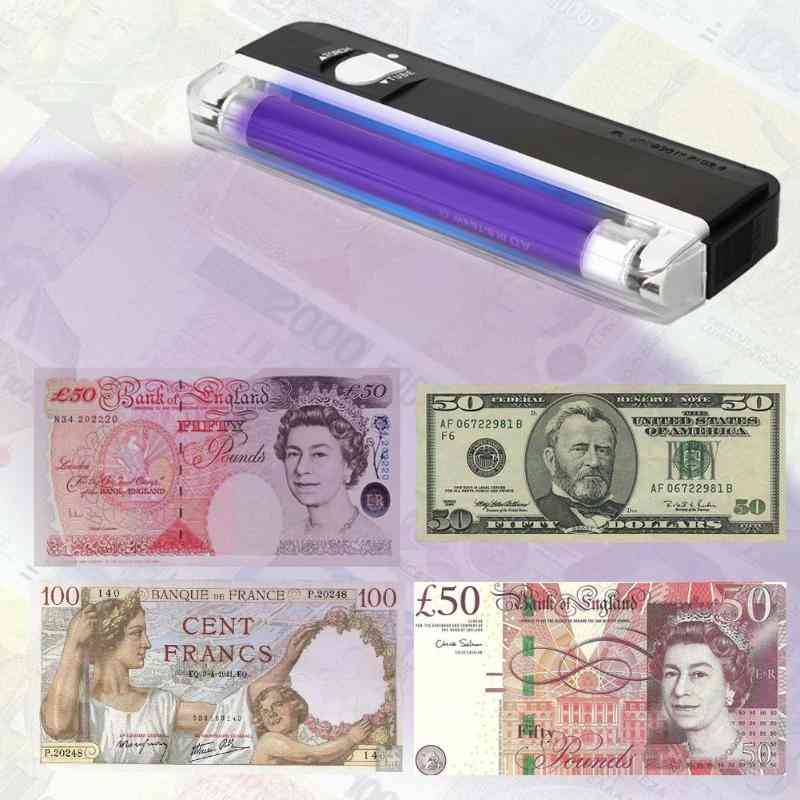 Money Counter Ticket Cash Detector Uv Lamp Light Torch