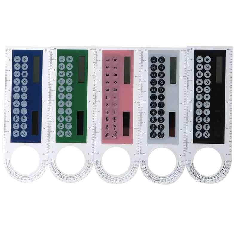 Multi-function Mini Solar Calculator/ruler