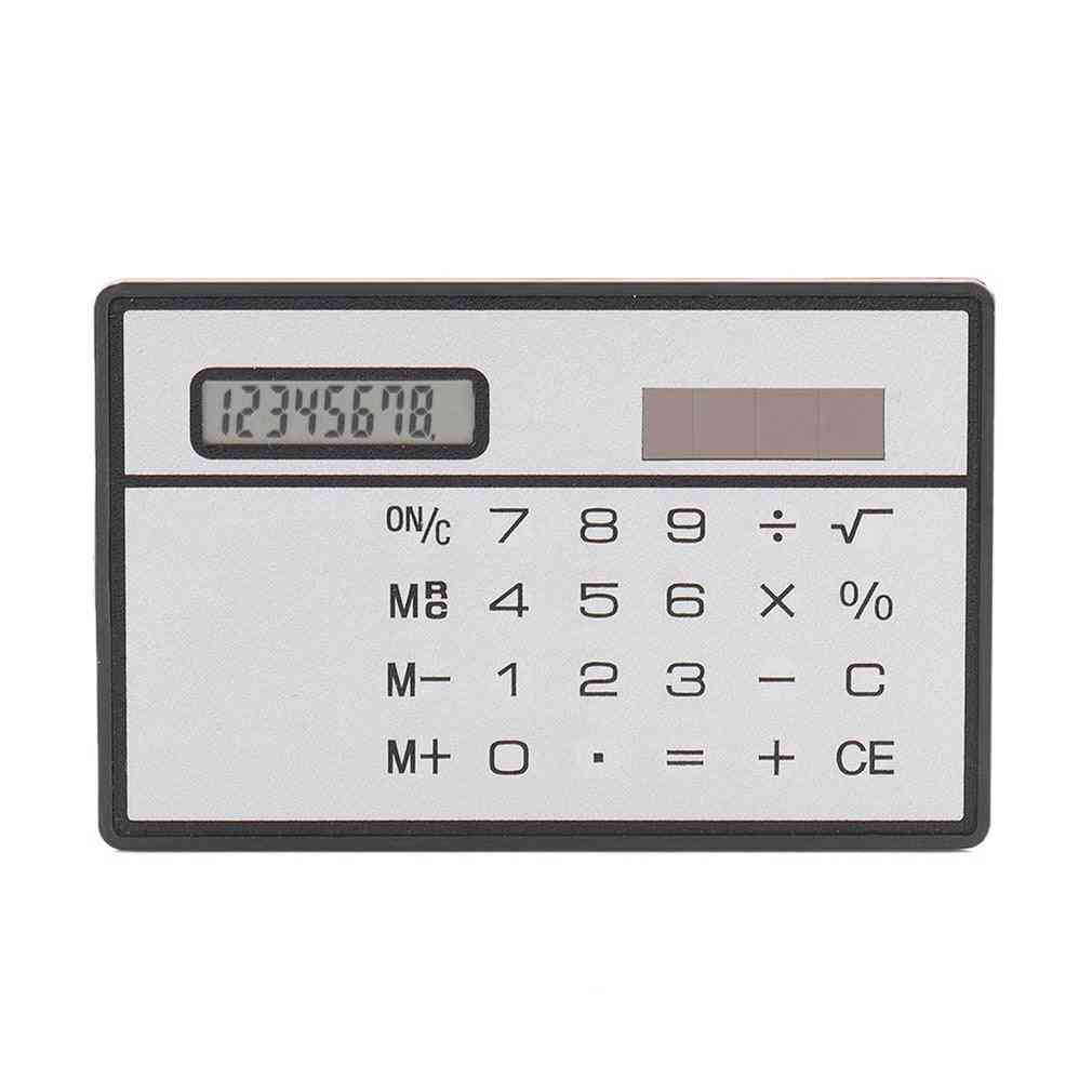 Ultra Thin Solar Power Calculator With Touch Screen