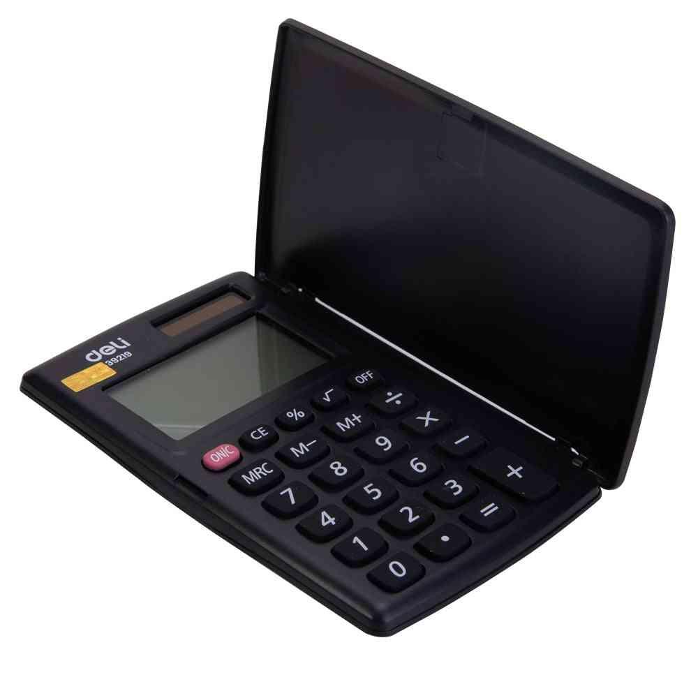 Mini Solar Dual Power, 8-digit Calculator With Lcd Display