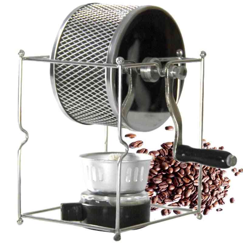 Stainless Steel Coffee Roaster, Hand-operated Bean Baking Maker Machine
