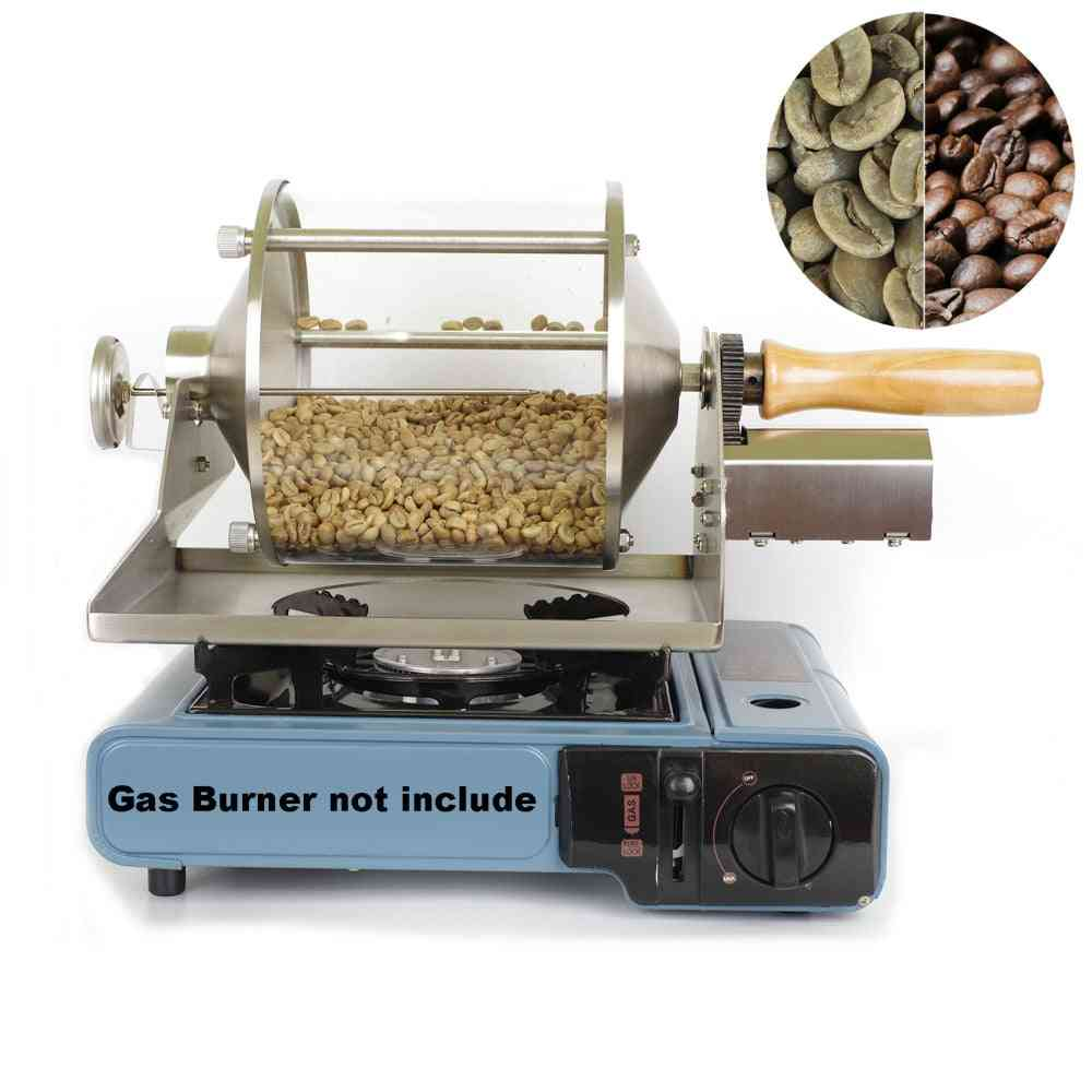 Small Household Fuel Gas, Direct Fire Roaster, Glass Transparent Visualization Coffee Beans, Baking Machine