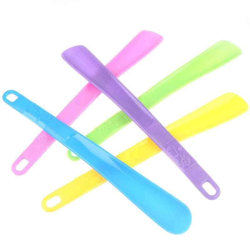 Pro Plastic Shoe Horn Spoon Shape Flexible Shoes Lifter Accessories