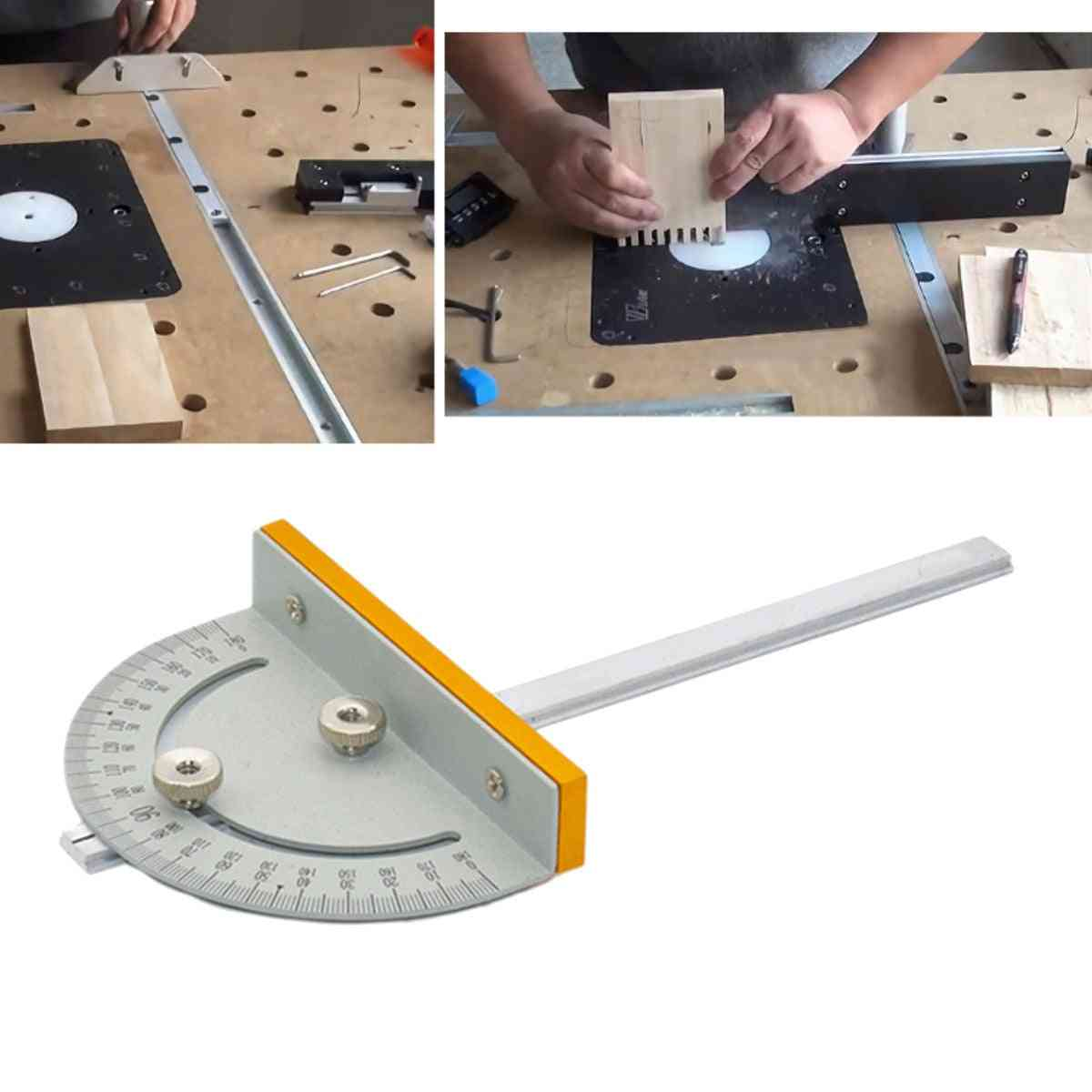 Mini Table Saw, Circular Miter Gauge Machines, T-style Angle Ruler With Handle