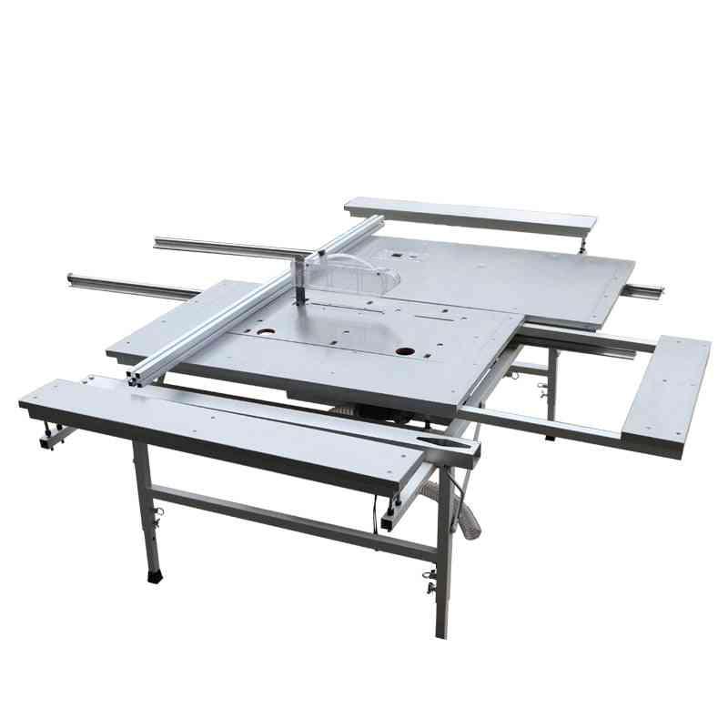 45-degree Sliding Table, Simple Panel Aluminium, Double-saws Tilting