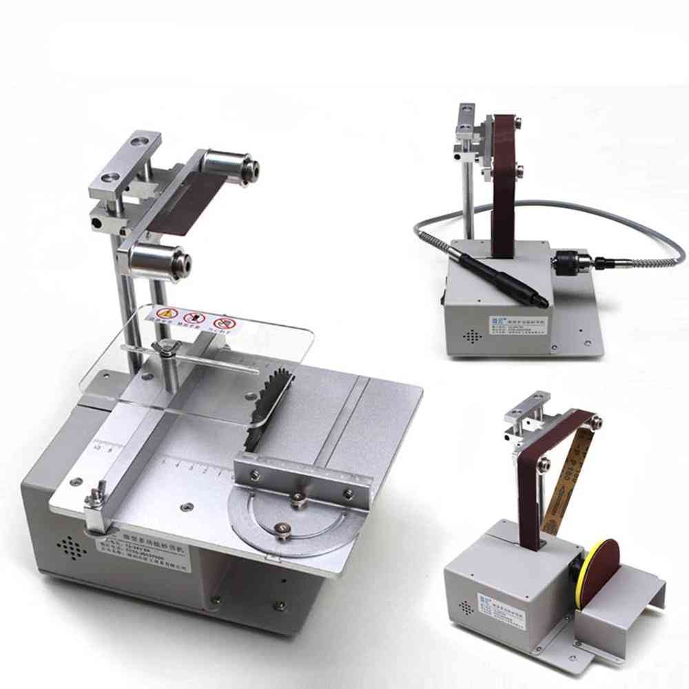 Electric Belt Sander, Multi-function, Cutting Table Saw, Desktop Grinding Machine