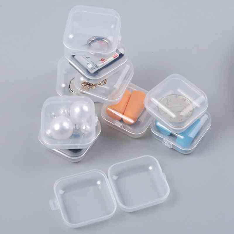 Multifunction Sd Card Earplug Transparent Portable Mini Jewelry Box
