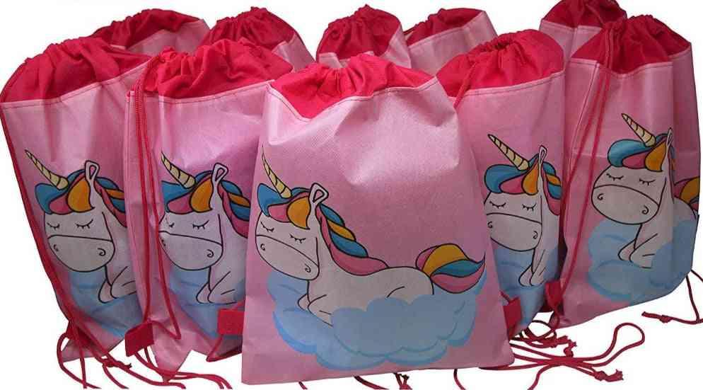 Unicorn Drawstring Bag, Cartoon School Backpacks