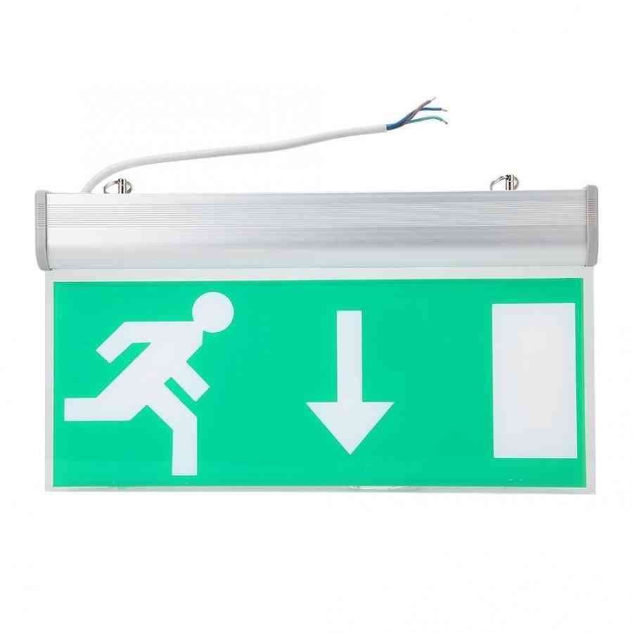 Led Emergency Exit Sign Light For Safety Evacuation