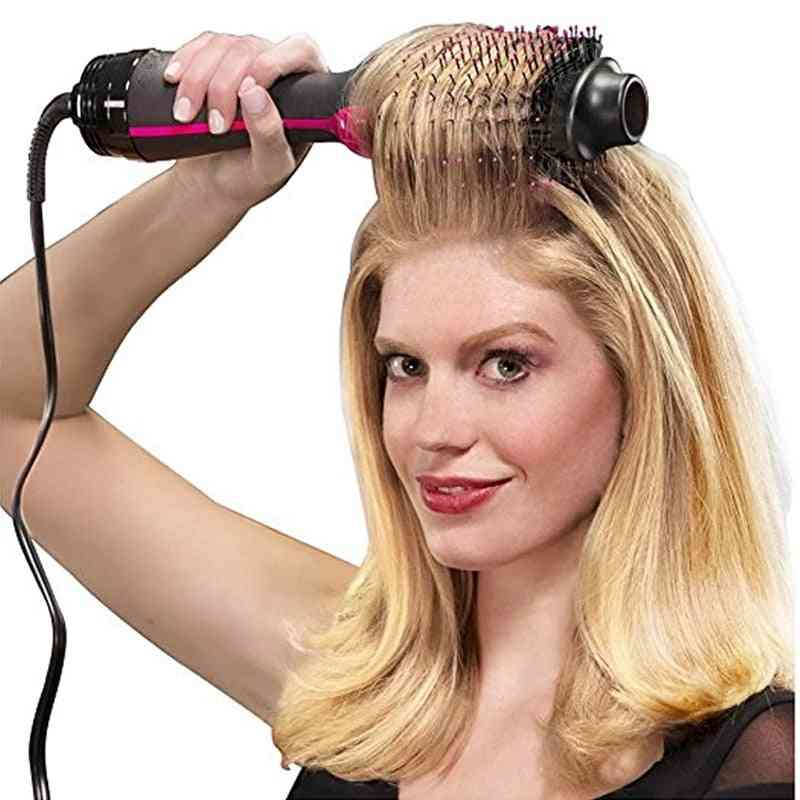 Professional Hair Dryer Brush, Electric Blow Dryer With Comb Hair-brush Roller Styler