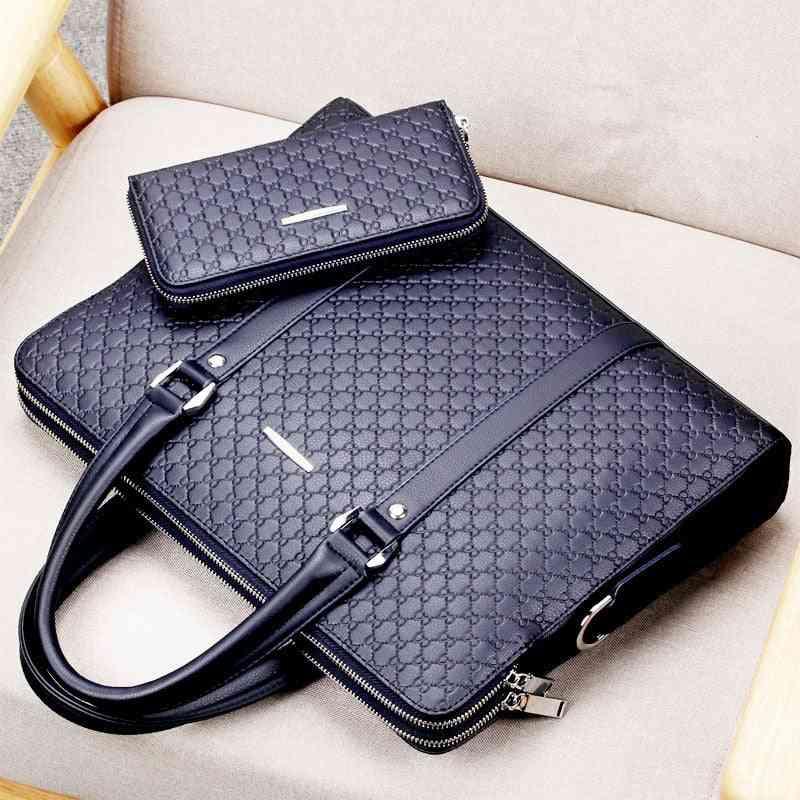 Men's Business Double Layer Casual Shoulder Bag